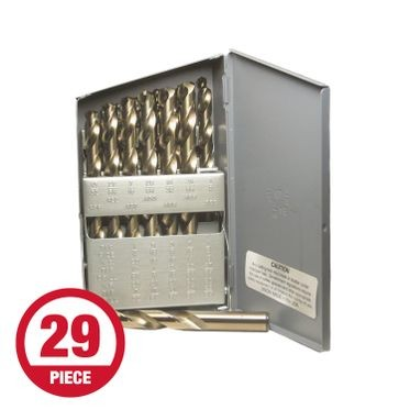 Cobalt Heavy Duty Metal Drill Bit Set - 29 Pieces