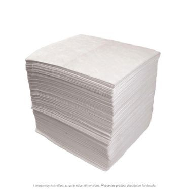 White Heavy Weight Oil-Only Sorbent Pads - 100 per Bale
