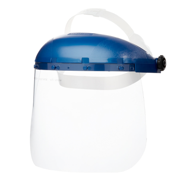 Pin-Lock Blue Headgear with Clear Face Shield - IN STOCK