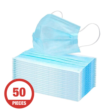 3-Ply Disposable Face Mask 50-Pack