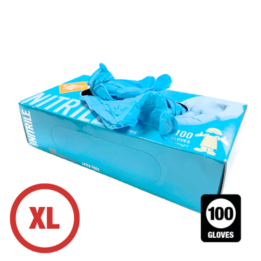 Disposable Powder Free Nitrile Glove XL - 100 Gloves Per Box