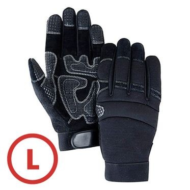 Mechanics Style Padded Palm Glove Large