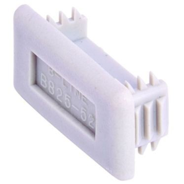 Gray Plastic End Cap for Shallow Strut 1-5/8