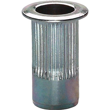 M4-.07 Zinc Plated Ribbed Rivet Nut