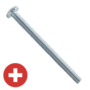 M4-.7 x 5mm Zinc Plated Phillips Pan Head Machine Screw