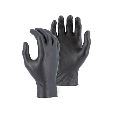 Black Disposable Fish Scale Nitrile Glove XL - 100 Gloves Per Box