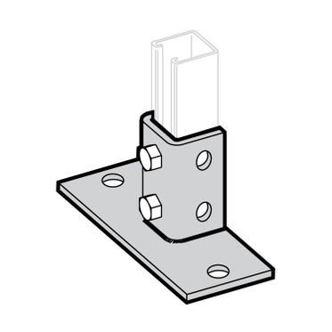 Zinc Plated Strut Base 6-Hole Mount - 3