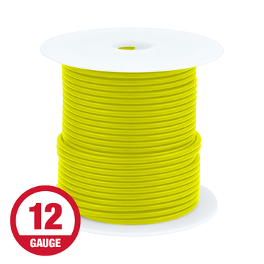 Primary Wire 12 Gauge Yellow 100' Spool