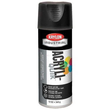 Krylon Acryli-Quik Spray Paint Ultra-Flat Black 12 Fluid Ounces