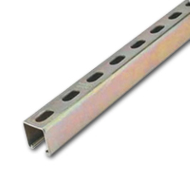 Stainless Steel Square Strut Slotted 1-5/8