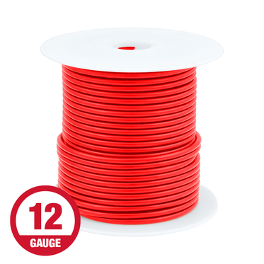 Primary Wire 12 Gauge Red 100' Spool