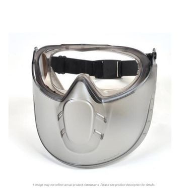 Pyramex Capstone Anti-Fog Clear Lens Goggles with Face Shield