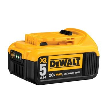 DeWalt 20V 5.0 AH XR Li-Ion Battery (1 Per Pack)