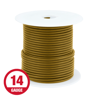 Primary Wire 14 Gauge Brown 100' Spool
