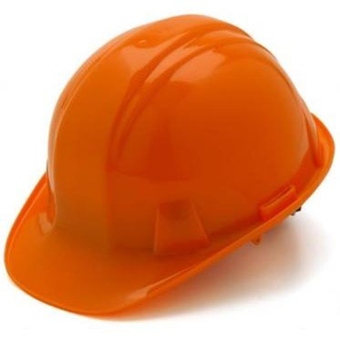 Orange 6-Point Ratchet Hard Hat Cap Style