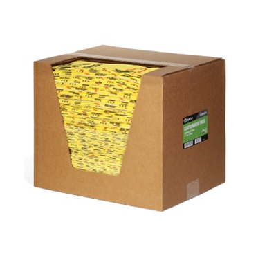 SpillTech Yellow Universal Light Weight Pad - 200 Per Box