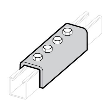 Zinc Plated Splice Clevis 4-Hole