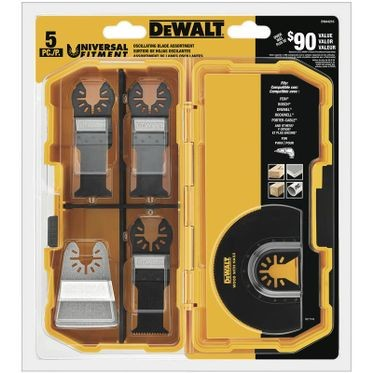 DeWalt Universal Oscillating Blade Set 5 Pieces