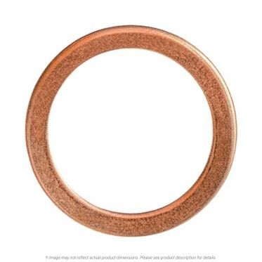 Copper Drain Plug Gasket 20mm x 25mm Outer Diameter, 10 per Box