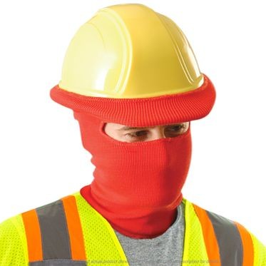 Red Full Face And Neck Thermal Windguard