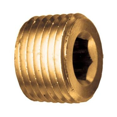 Brass Hex Countersunk Pipe Plug 1/4