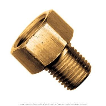 Brass Flare Connector Inverted 3/8