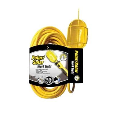50 Foot Work Light Metal Guard with Outlet
