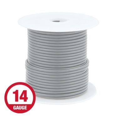 Primary Wire 14 Gauge Gray 100' Spool
