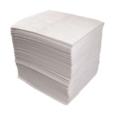 White Light Weight Oil-Only Sorbent Pads - 200 per Bale