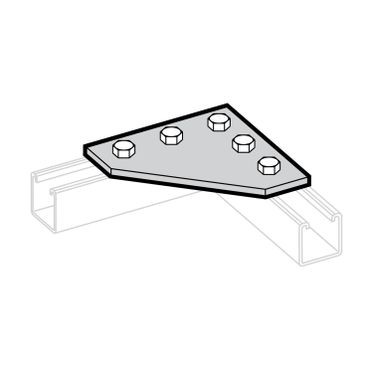 Zinc Plated Corner Gusset Plate 5-Hole