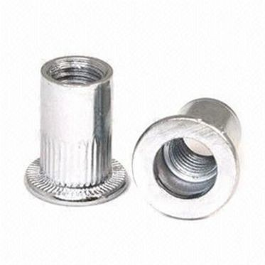 M10-1.5 Zinc Plated Ribbed Rivet Nut