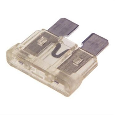 White BladE-Type Fuse 25 Amp, 5 per Box