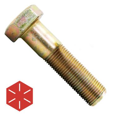 Hex Head 5//8-11 x 8-1//2 Grade 8 Bolts Yellow Zinc Cap Screws 6