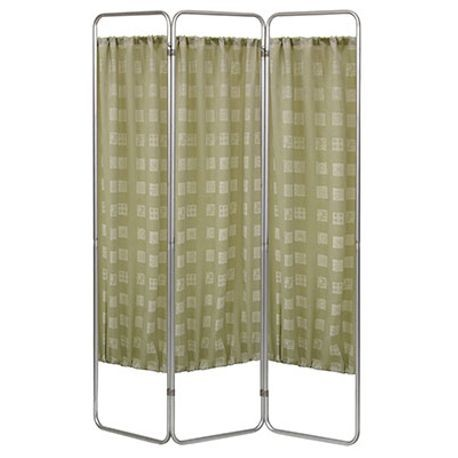 Three-Section Economy Privacy Screen, Fabric, Sage
