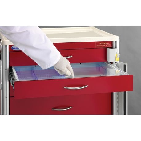 Crash Cart Drawer Tray with Acrylic Lid