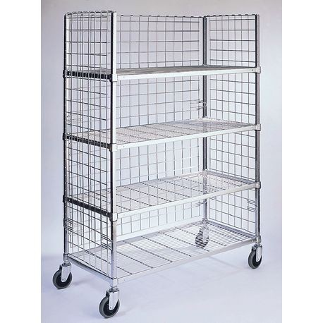 "3-Sided Mobile Cart, 18"" x 48"" Shelves"