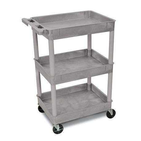 Poly Cart with Tub-Style Shelves