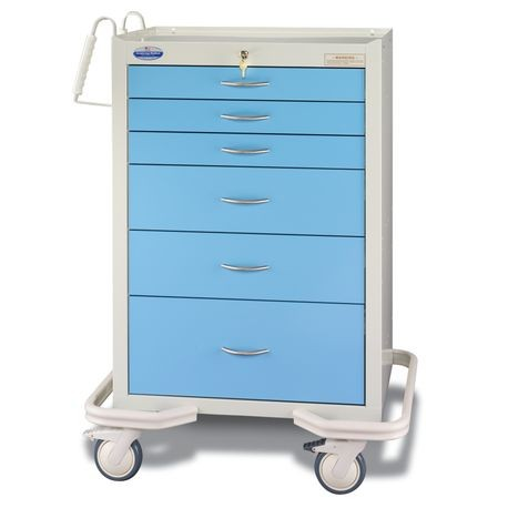 Standard Steel Two-Tone Anesthesia Carts / Mobile Workstations