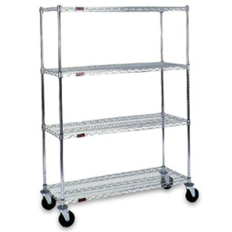 "Mobile Wire Shelving Units, 24"" x 60"""