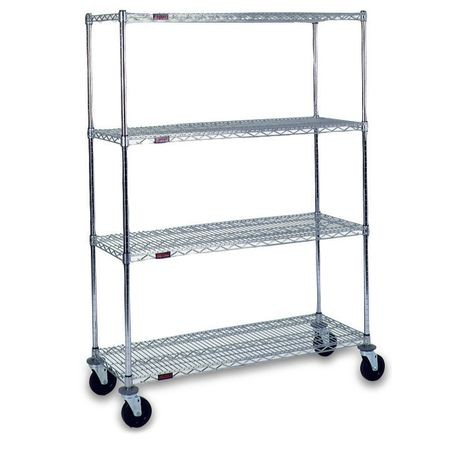 "Mobile Wire Shelving Units, 24"" x 36"""