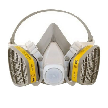 3M 5203 Disposable Half Facepiece Respirator, M, Elastic, Yellow