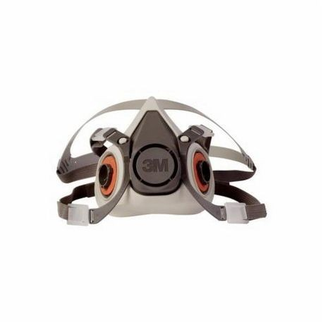 3M 6200 Reusable Dual Cartridge Half Facepiece Respirator, M, Grey