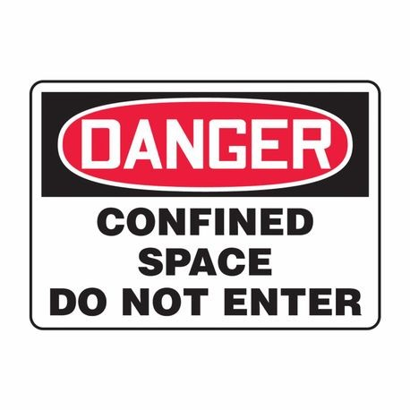 Accuform MCSP006VA Danger Safety Sign, 7 in H x 10 in W, Red/Black on White, Surface Mount, Aluminum