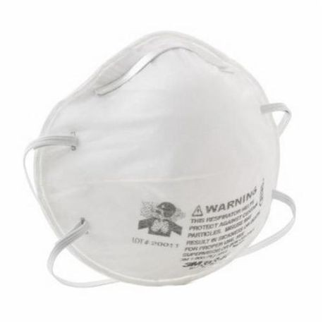3M 8240 Cup Style Comfortable Disposable Particulate Respirator With Adjustable Nose Clip, Standard, R95, 0.95, White