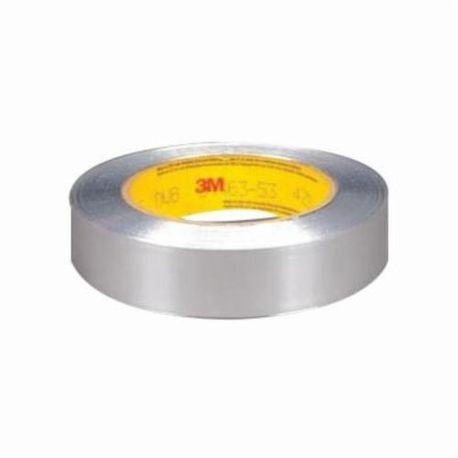 3M 051125-85388 425 Non-Conductive Premium Performance Self-Wound Foil Tape, 1 in W x 60 yd Roll L, 4.6 mil THK, Silver