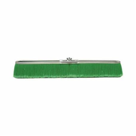 Vortec Pro 25299 Push Broom, 24 in OAL, 3 in Trim, Fine Sweep Face, Green Polypropylene Bristle