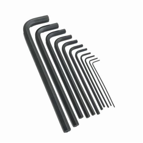 Allen 56318 Long Key Set, Imperial, 9 Pieces, 5/64 to 1/4 in Hex Size Range, Fold-Up Handle, Alloy Steel
