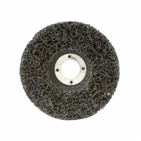 CGW59200 EZ Series Non-Woven Strip Wheel, 4-1/2 in Dia, 7/8 in Center Hole, Extra Coarse Grade, Silicon Carbide Abrasive