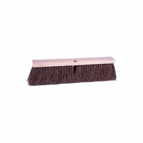 Vortec Pro 25242 Threaded Tip Push Broom, 24 in OAL, 4 in Trim, Brown Palmyra Bristle