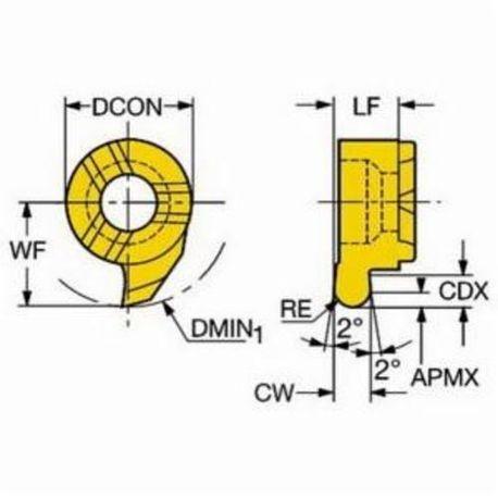 0.157 W Profiling Insert 11 Seat Right Hand Cutting CoroCut MB R 1025
